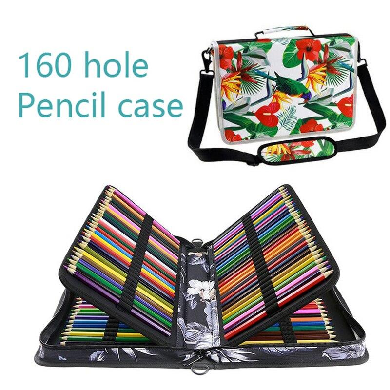 Kawaii Floral 160 Slot Art fournitures grande capacité sac à crayons crayon Gel stylo étui pour coloré Oxford tissu école crayons étui