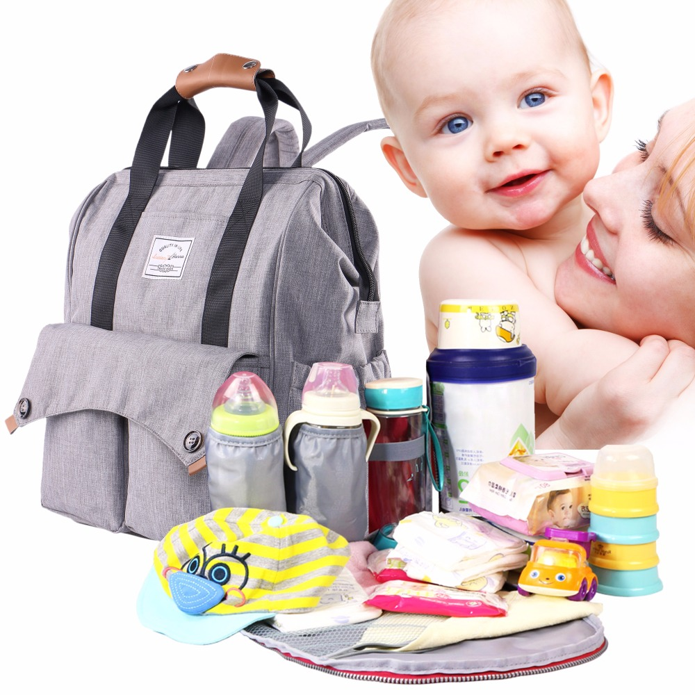 Flyone Large Capacity Baby Bag Mummy Maternity Nappy Bags Travel Backpack Designer Nursing Bag for Baby Care Diapering Back Pack idore baby diapers l 60pcs disposable nappies ultra thin large absorb capacity breathable 6dtex non woven fabric infant nappy