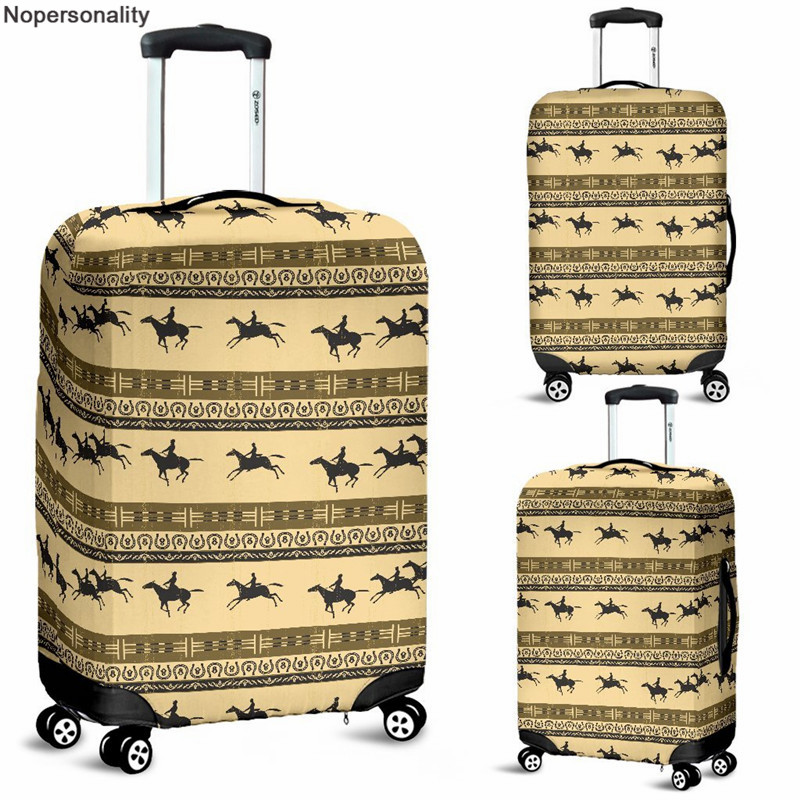Nopersonality Horse Prints Suitcase Luggage Elastic Dust Bags Protective Case For Baggage Fit 18