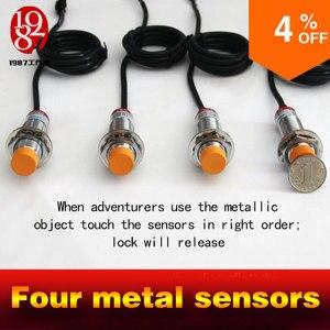 Image 4 - Gerçek canlı odası kaçış oyun prop dört metal sensörler dokunmatik sağ sipariş kilidini ses dokunmatik sipariş to relasethe kapı