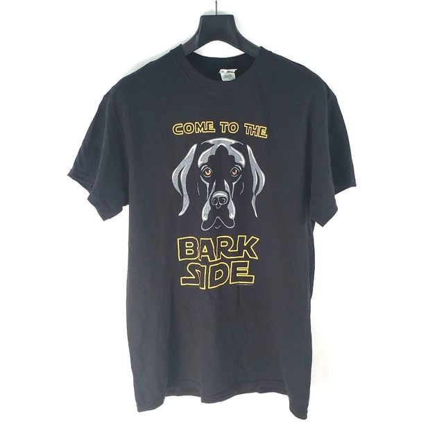 d4302f56 come to the bark side mens t shirt size medium black lab dog star wars
