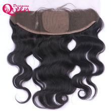 Dreaming Queen Hair Brazilian Body Wave Silk Base Lace Frontal Closure 13×4 With Baby Hair Double Knots Human Hair Closure