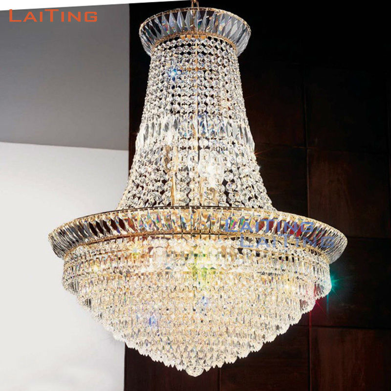 Retro Cheap Small Crystal Pendant Lamp Gold Round Handmade Art Decor Crystal Chandelier by DHL +Free shipping