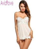 Avidlove Brand Women Nightwear Ladies Sexy Lace Sleepwear Plus SIze Sexy Lingerie Hot Porn Dress V