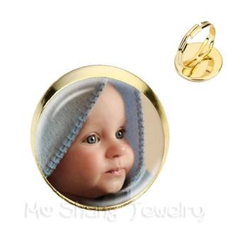 Personalized Custom Rings Photo Mum Dad Baby Children Grandpa Parents Customized Designed Photo Gift For Family Anniversary Gift 1