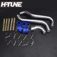 H TUNE Aluminum Polished Turbo Intercooler Piping Kits for Triton VGT 2009 2014