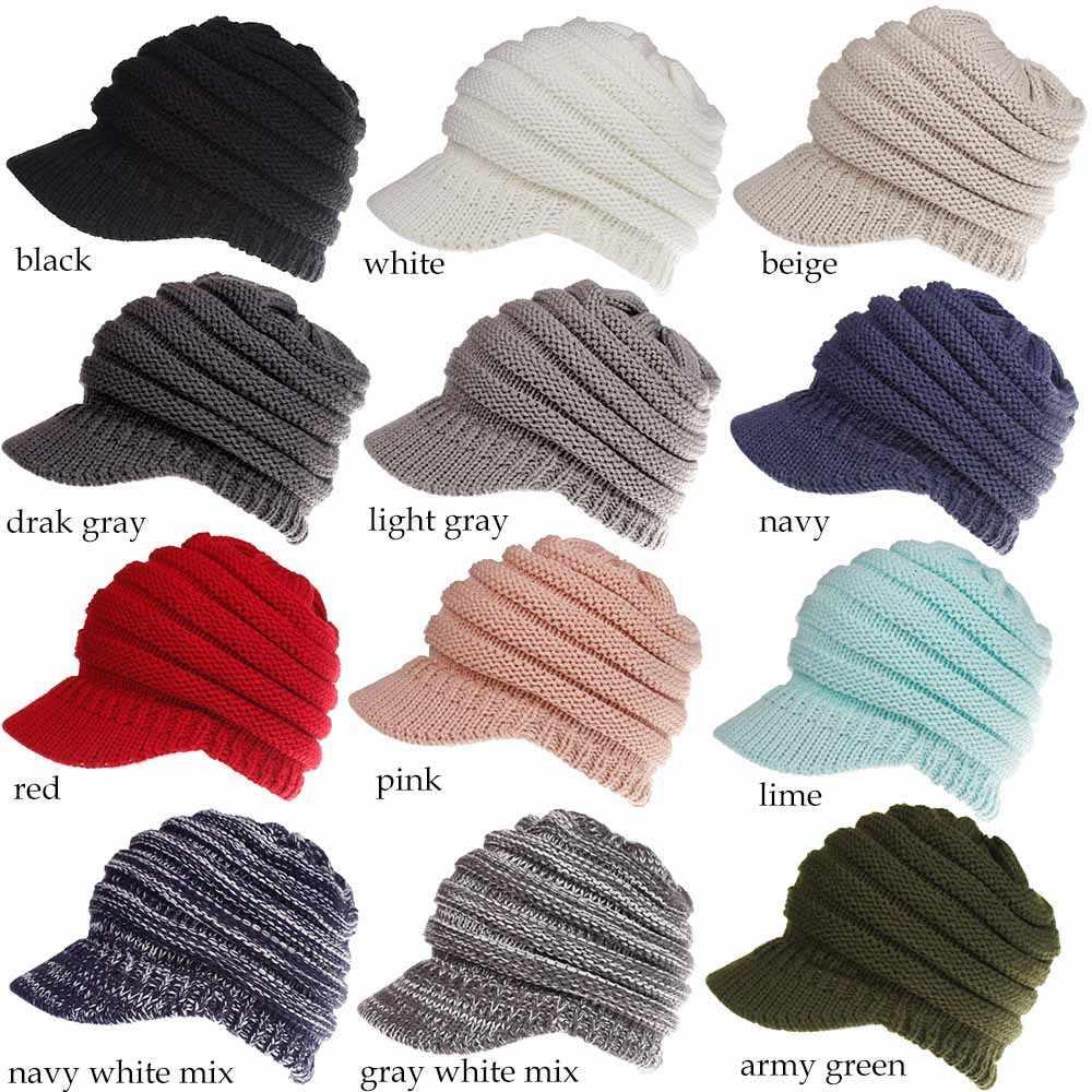 52fa638d156611 ... 2018 Winter Beanie Womens Crochet Knit Hats Knitted Wool Cap CC Beanies  Unisex Casual Hats Men ...