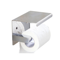 Stainless Steel Wall Mounted Paper Holder Silver mirror Bathroom mobile Phones Towel Rack Toilet Roll Paper Holder