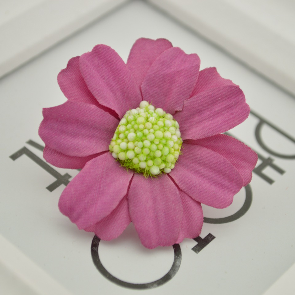 10pcs Silk Daisy sunflower Artificial Flowers Head Wedding Gift box ...