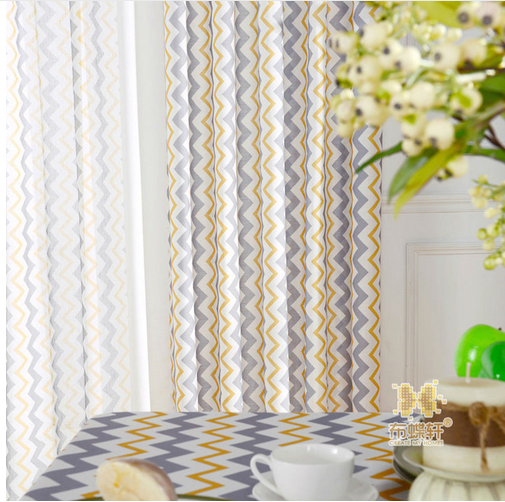 Kitchen Curtains Drapes Modern Elegant Living Room Blue Window - Home Textile - Photo 4