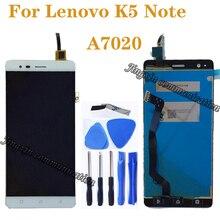 """5.5 """"لينوفو A7020 A7020a48 K52t38 k52e78 LCD + شاشة تعمل باللمس محول الأرقام مكون بديل لينوفو K5 نوت شاشة LCD"""