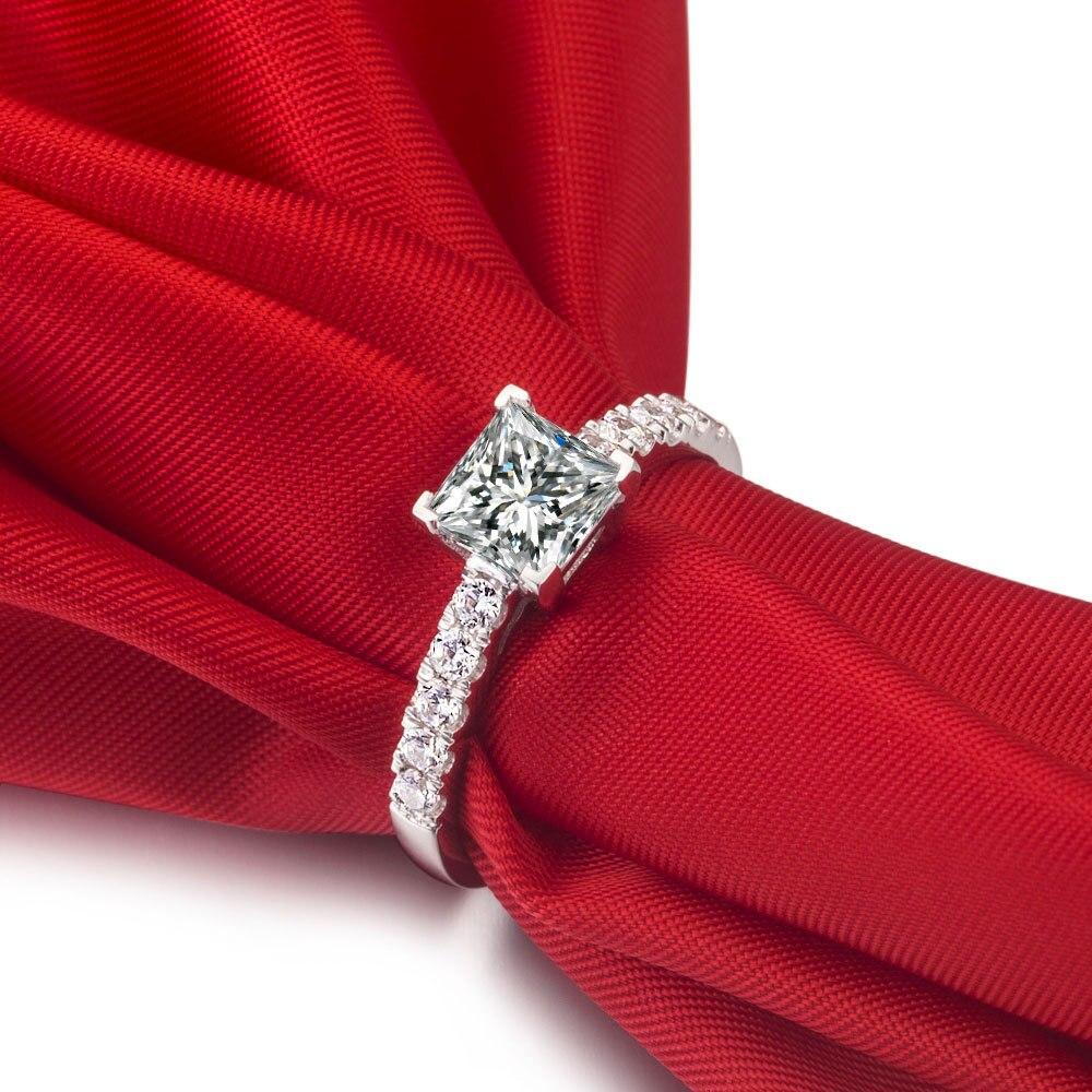 1 Carat antique vintage Brilliant Princess Cut Diamond Sona Fine