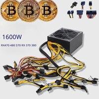 8 gpu горнодобывающей установки машины 1800 Вт сервер источник питания для добычи Bitcoin поддерживает видео карты RX470 RX480 RX580 R9 380 390