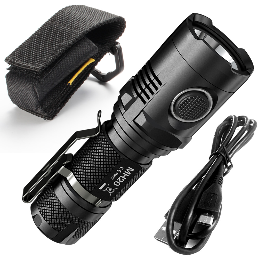 SALE NITECORE  MH20 MH20W 1000Lumen CREE XM L2 U2 LED Rechargeable Flashlight Without Battery Waterproof Led Torch Free Shipping-in LED Flashlights from Lights & Lighting    1