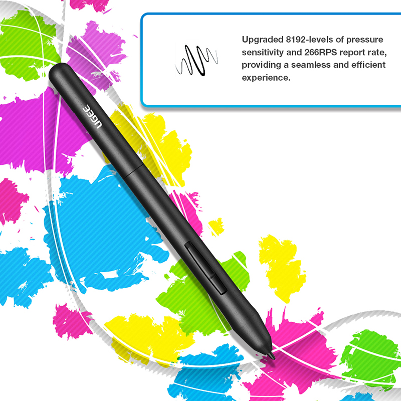 """Ugee M708 Digital Graphics Tablet for Drawing """"10×6"""" Painting Pad 8192 Level Graphic Tablet with battery-free Pen and Glove"""