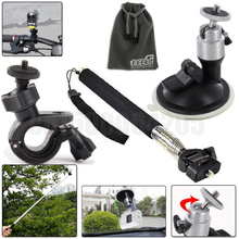 4in1 GoPro Bike Handlebar Mount Holder + Handheld Monopod Action Cam HDR AS20/AS30V/AS100V Bike/Car Mount + Selfie Monopod