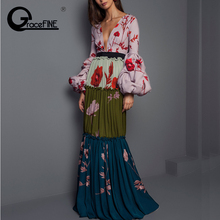 454aaf5b468c6 Buy floral lantern sleeve maxi dress and get free shipping on ...