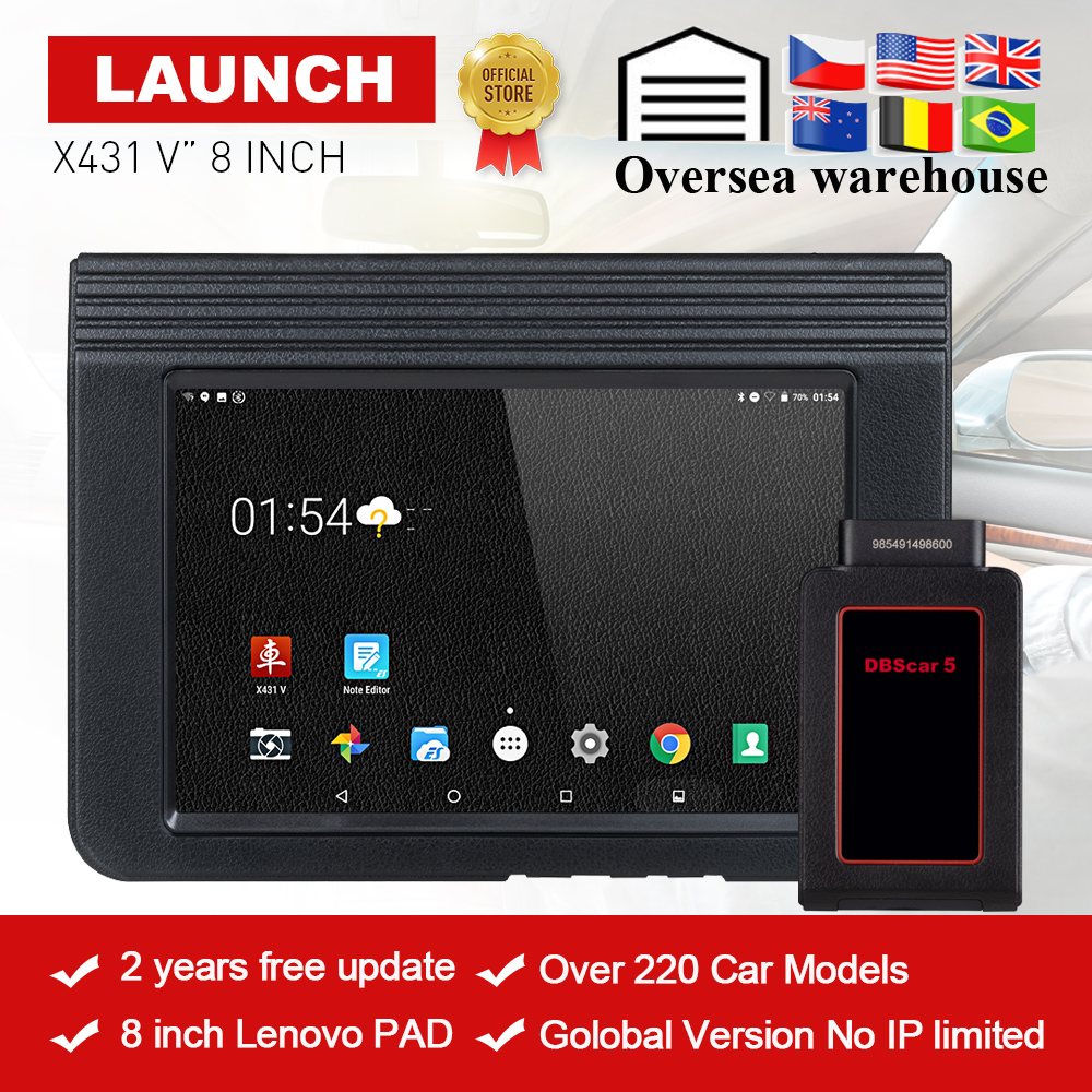 LAUNCH X431 V 8 Version Bluetooth Wi-Fi Full System Car Diagnostic tool with 2 Years Free Update X-431 V Pro Mini Auto Scanner цены