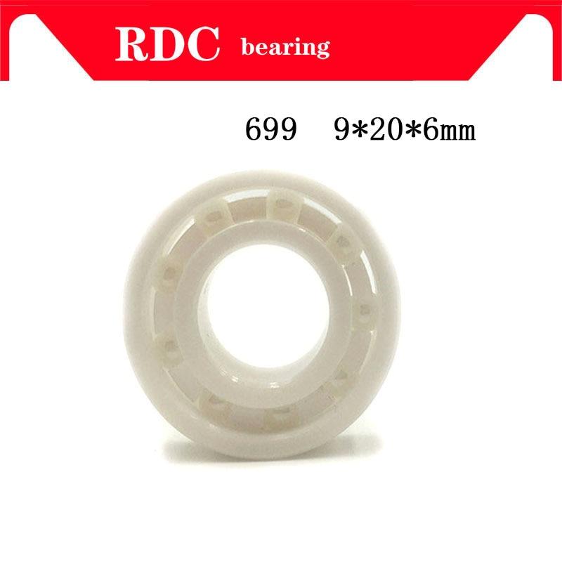 Free Shipping 4PCS 699 9x20x6mm High quality full ZrO2 ceramic ball bearing zirconia bearing 9*20*6mm Factory sales цена и фото