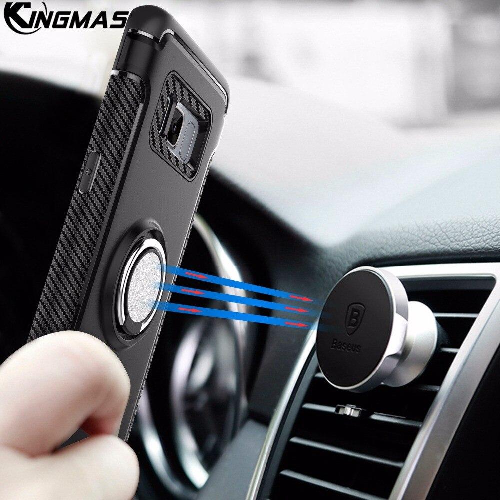 Роскошный чехол для Samsung Galaxy S8 плюс съемный ударопрочный 360 градусов Поворотный Пряжки Кольцо футляр для Samsung S7 S7edge