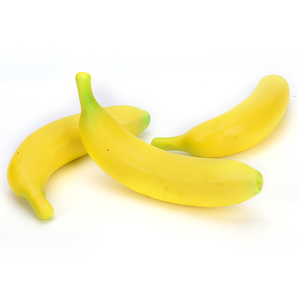 Boss Stress Relief Toys : Yellow novelty funny anti stress ball toys squeeze banana