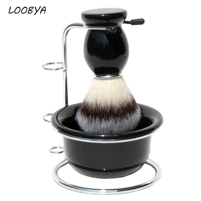 Shaving Set Shave Beard Brush Metal Razor Holder Acrylic Bowl
