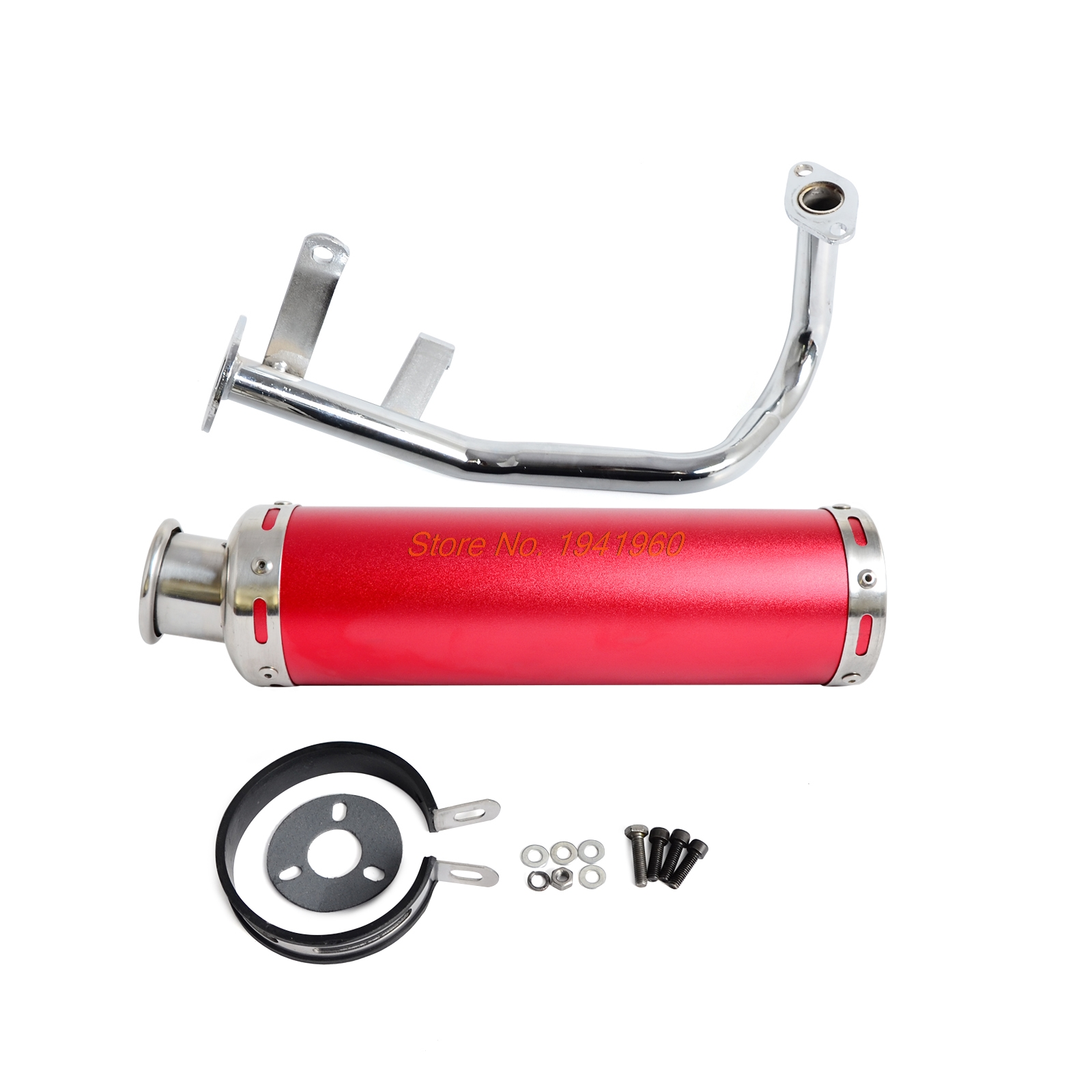 NICECNC Motorcycle Full System Exhaust Muffle Pipe For GY6 139QMB Chinese Scooter 4 Stroke 50cc Engines Exhaust System Pipe makita b 48228 бур sds 25х200х250мм v plus