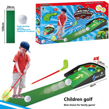 Outdoor fun sports Child golf ball toy set rod plastic toy set Parent child toys Early