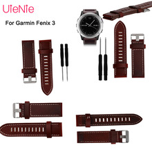 Luxurious professional leather watch band for Garmin Fenix 5X wrist strap 26MM for Garmin Fenix 3 3 HR smart watchband belt band цена