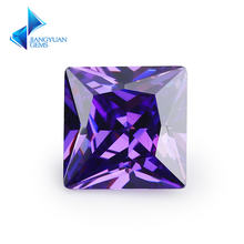 Размер 15x1 5 ~ 12x12 мм квадратная форма Принцесса cut 5a фиолетовый