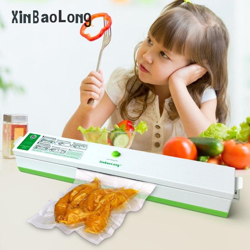 Best Electric Vacuum Food Sealer Packaging Machine 110 220V Home Film Sealer Vacuum Packer Including 15Pcs Bags Vacuum Sealer