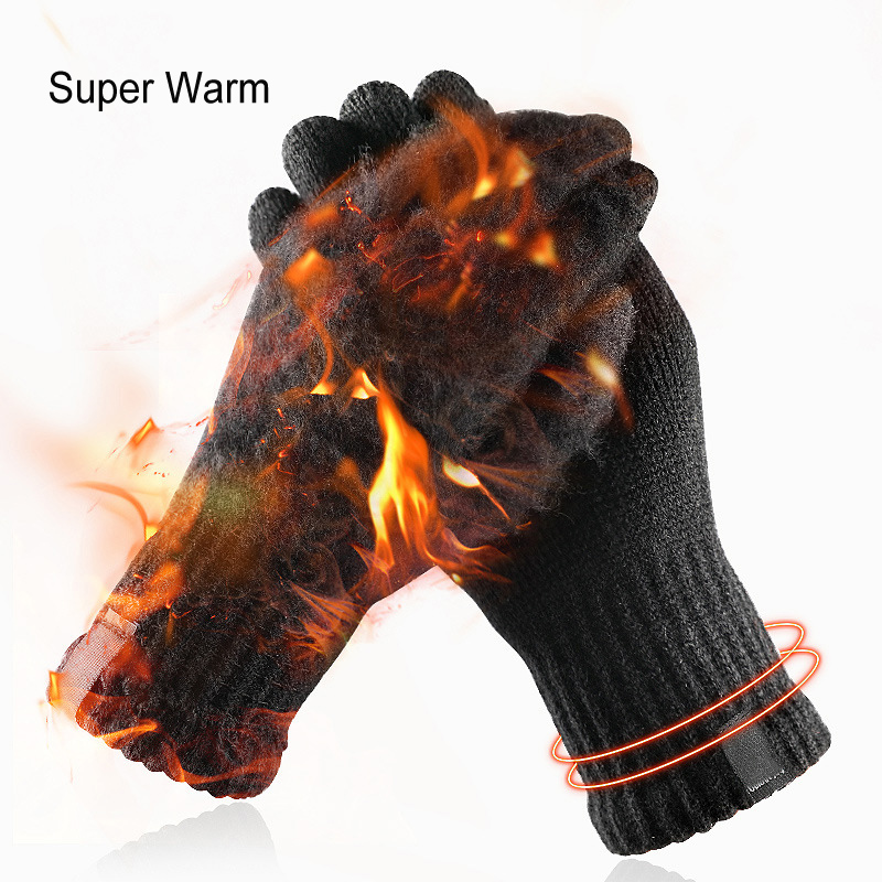 LESOV Woolen Touch Screen Gloves for Men with Highly Sensitive Conductive Fiber on Thumb and Index Finger Works with All Touch Screen Device 8