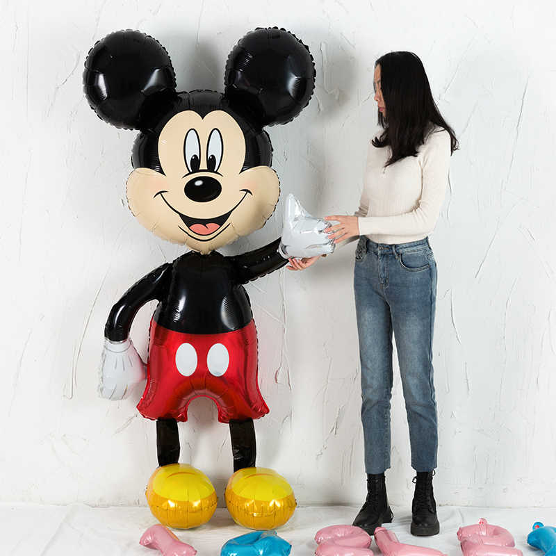 Nieuwe 175 Cm Grote Mickey Minnie Mouse Folie Ballon Cartoon Verjaardagsfeestje Decoraties Kids Baby Shower Party Ballon Speelgoed
