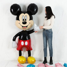 Neue 175cm große Mickey Minnie Maus folie Ballon Cartoon Geburtstag Party dekorationen Kinder Baby shower Party ballon Spielzeug(China)