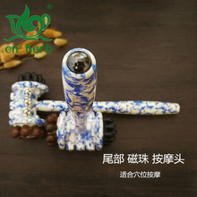 Cn Herb Roller Massage Hammer Beat Meridian Stick Neck Vertebral Wooden Leg Chuibei To Knock Back.