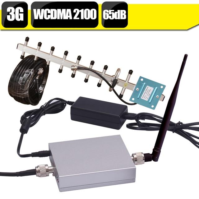 CE FCC 65dB Gain 3G WCDMA 2100mhz Cell Phone Signal Amplifier UMTS