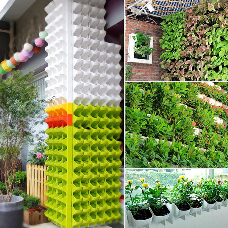 SOLEDI Kunststoff Pflanzgefäß Blumentopf Wandbehang Garten Hängen Stapelbar Garten Liefert für Garten Geländer Terrassen Hause Dezember