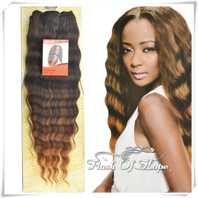 24 Inch Noble Gold Super Bohemian Helen Ombre Deep Curly Synthetic