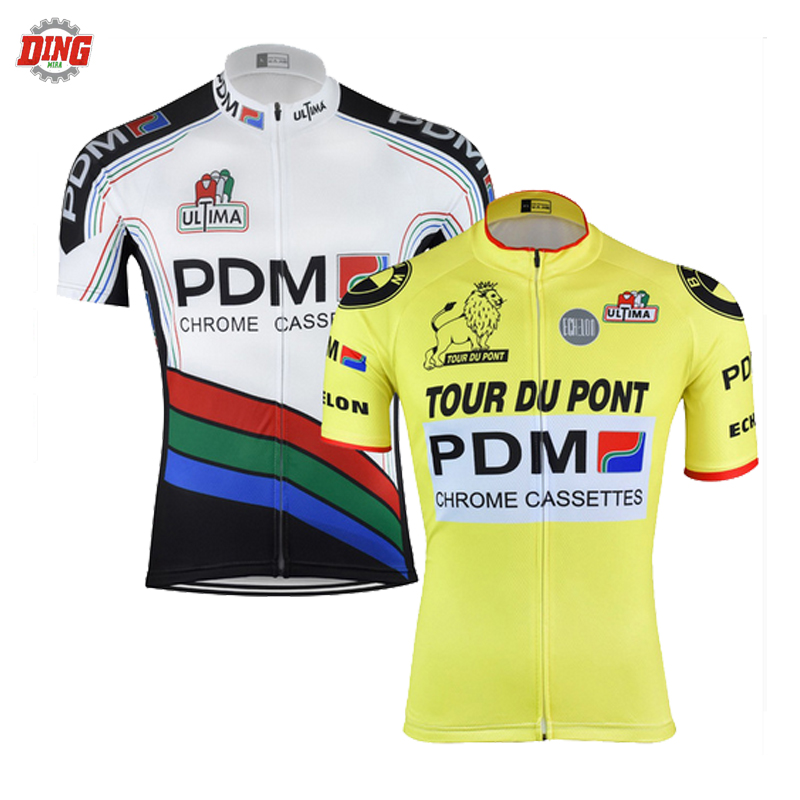 Classic PDM cycling jersey ropa Ciclismo men Short sleeve yellow white cycling  clothing bike wear Pro team MTB maillot outdoor 7f18f00af