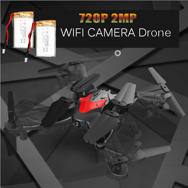 Foldable Drone with Camera HD 2MP WIFI FPV Altitude Hold RC Quadcopter 6-Axis Helicopter VS KY601 XS809 Dron dron quadcopter with camera fpv rc helicopter aititude hold 2 4g wifi 6 axis gyro 2mp hd fpv quadcopter drone with camera hd