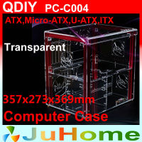 Luxury DIY horizontal transparent PC case, acrylic, Support ATX, M ATX, personalized fashion PC case, QDIY PC C004