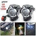 Универсальная мотоциклетная Светодиодная лампа U5  12 В  вспомогательная лампа  фара для вождения  ДХО  противотуманная фара для BMW R1200RT S1000R ...