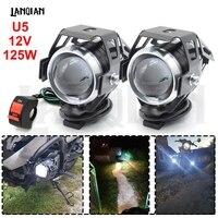 Universal motocicleta led luz u5 12 v lâmpada auxiliar de condução do farol drl luz nevoeiro para bmw r1200rt s1000r f800gt acessórios light for light for bmwlight for head -