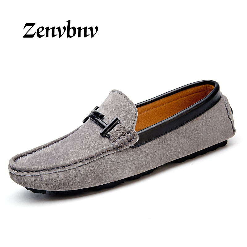 ZENVBNV Plus Size 38-45 Slip on Genuine Leather Handmade Mens Loafers Men Flats Autumn/Winter Male Office Shoe Loafers Moccasins genuine leather men loafers large size 38 47 slip on handmade mens boat shoes comfortable spring autumn formal male flats