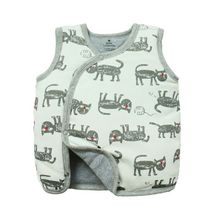 A generation of infants and young children vest autumn and winter cotton side open jacket cotton vest new folder cotton