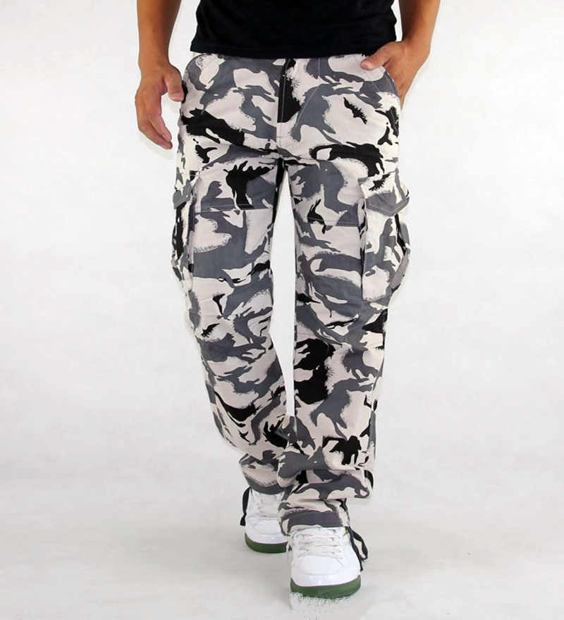 Men Military Army Cargo Camouflage Pants Work Shorts Outdoor Casual Trouser