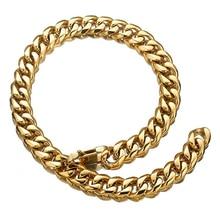 13/15/17/19mm Xxxtentacion Men's Jewelry Choker Tail Hip Hop Rapper Stainless Steel Gold Cuban Curb Chain Necklace Or Bracelet