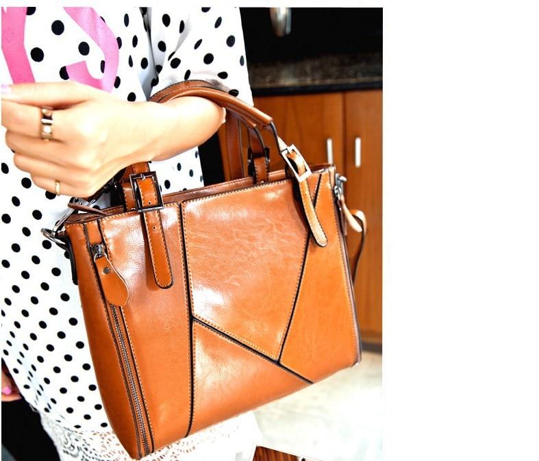 New genuine leather women bag Spell leather women handbag women messenger bags