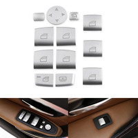 YAQUICKA 12pcs Set Car Door Window Lift Button Switch Trim Cover Stickers For BMW X1 X3