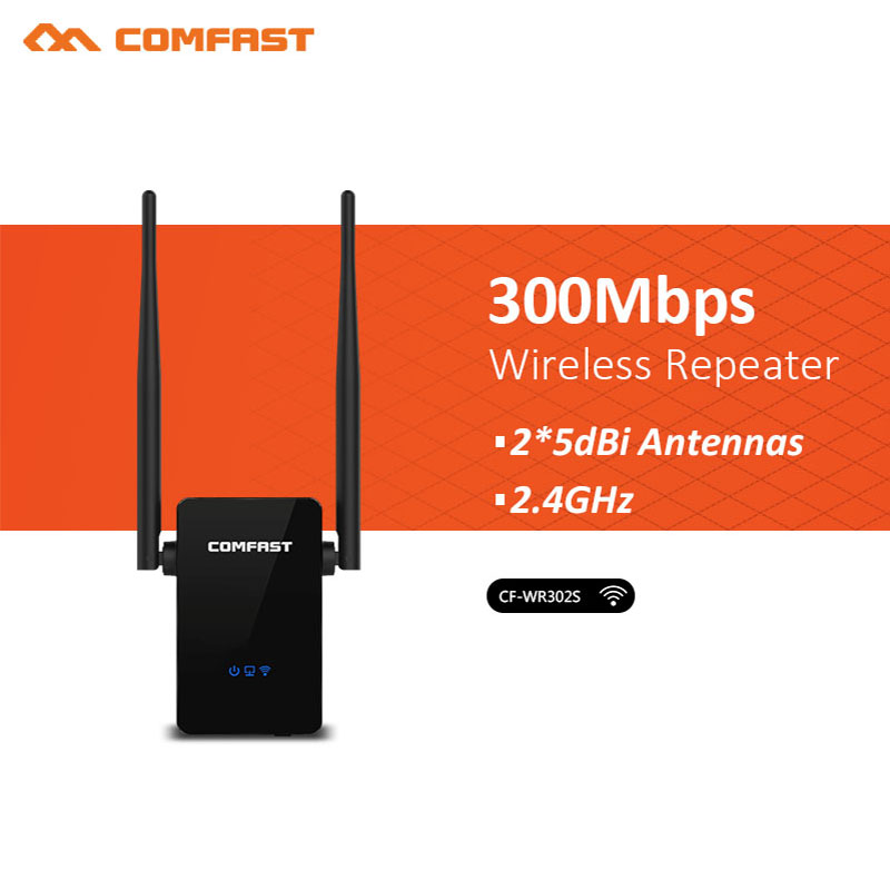 Newest 300Mbps COMFAST CF-WR302S Wireless Wifi Repeater 802.11n/b/g Network Wifi Extender Signal Amplifier  Booster Repetidor